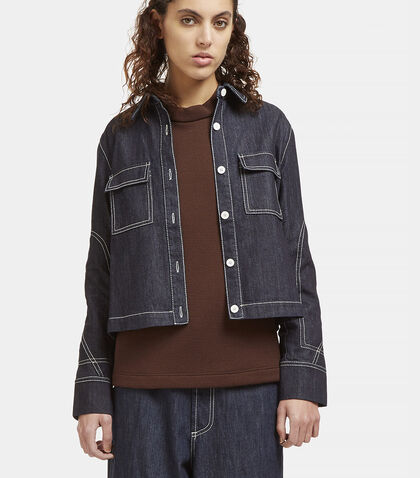Contrast Stitched Denim Jacket by Marni