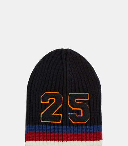 Striped Knit 25 Patch Beanie Hat by Gucci