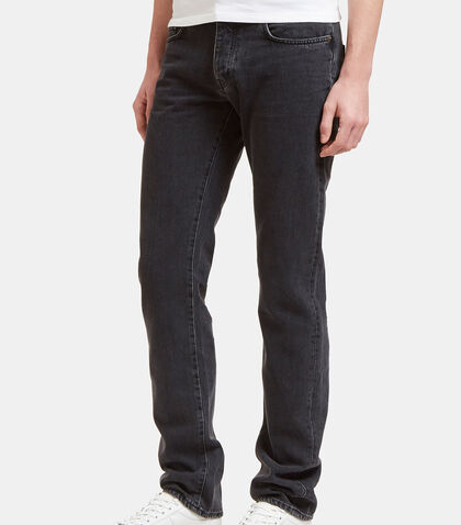 Saint Laurent Mens Straight Fit 5 Pocket Low Waisted Jeans by Saint Laurent