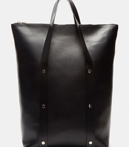 Oversized Leather Tote Bag by Marni