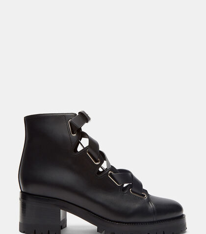 Leather Laced Ankle Boots by Valentino