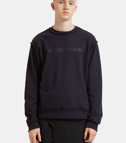 Logo Branded Overlocked Sweater by J.W. Anderson
