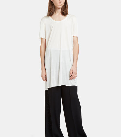 Mastodon Long Scoop Neck T-Shirt by Rick Owens