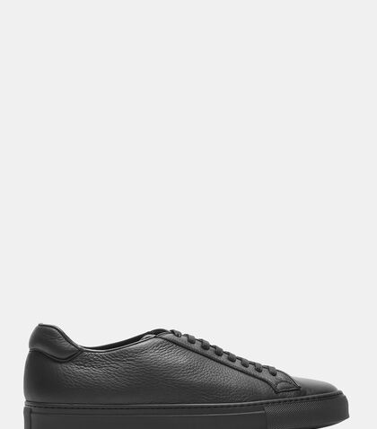 Low-Top Grained Leather Sneakers by Aiezen