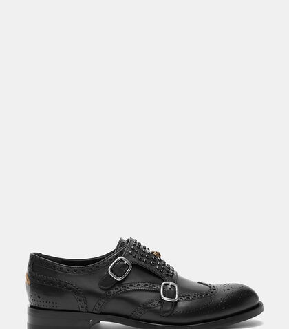 Studded Double Strap Monk Shoes by Gucci