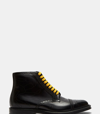 Crab Multicolour Laced Brogue Boots by Gucci