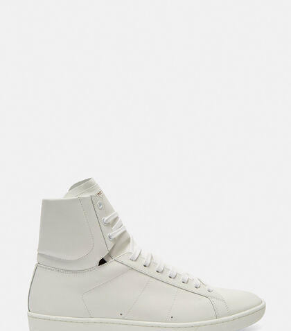 SL/01H High-Top Court Sneakers by Saint Laurent