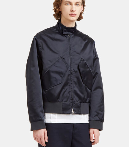 Mito Technical Satin Patch Pocket Jacket by Acne Studios
