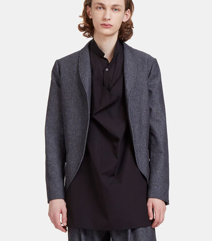 Draped Bib Flecked Blazer Jacket by Aganovich