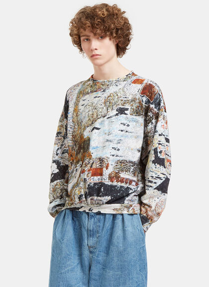 Buy Garden Printed Oversized Sweater by Anntian men clothes online