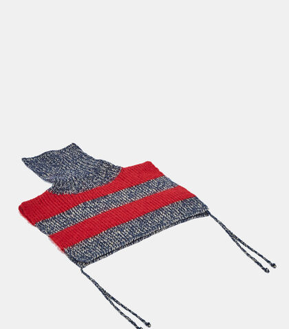 Striped Knit Roll Neck Scarf by Gucci