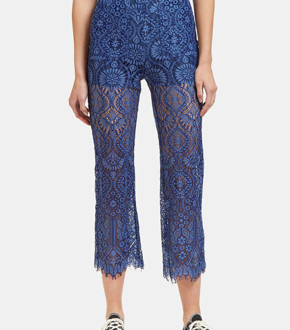 High-Waisted Lace Pants by MSGM