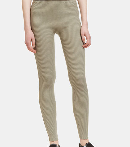 Ribbed Knit Leggings by Lauren Manoogian