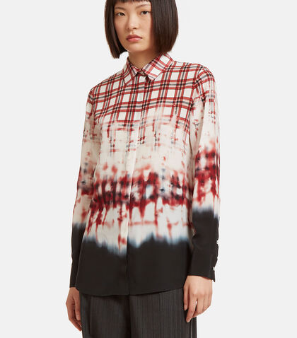 Chika Checked Dye Shirt by Altuzarra