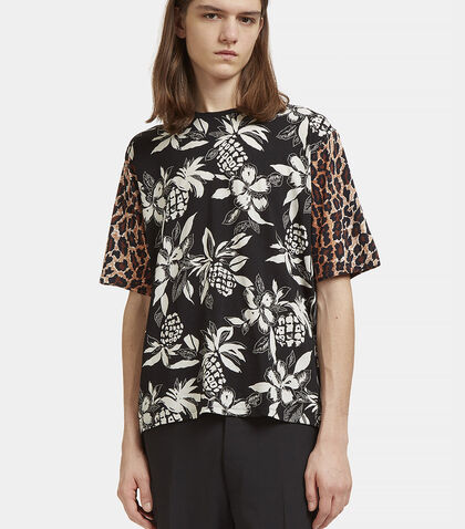 Hibiscus Leopard Print T-Shirt by Saint Laurent
