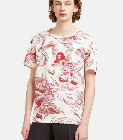 Donald Duck Storm Print T-Shirt by Gucci