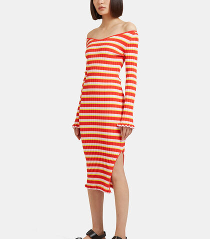 Socorro Striped Ribbed Dress by Altuzarra