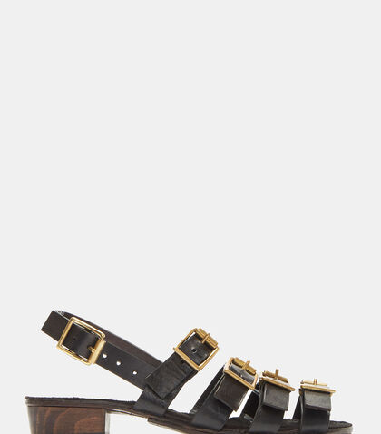 Buckled Strap Leather Sandals by Atelier Inscrire