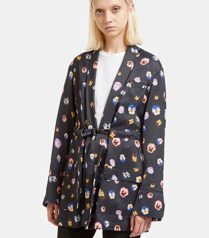 Pansy Print Evening Jacket by Christopher Kane
