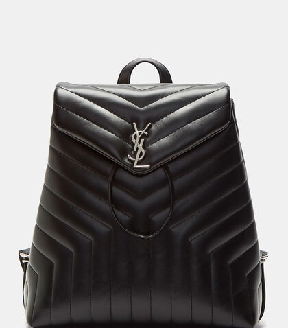 Monogrammed Matelassé Backpack by Saint Laurent