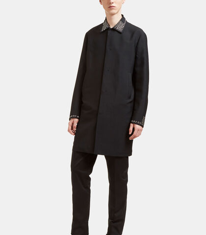 Short Metal Grommet Coat by Valentino
