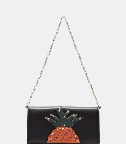 Pyramid Studded Pineapple Chain Wallet by Valentino