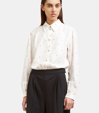 Bejewelled Flamingo Shirt by Marc Jacobs