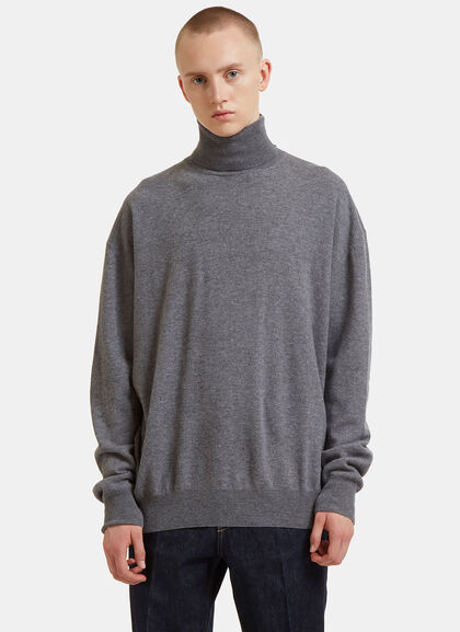 Buy Oversized Contrast Roll Neck Sweater by Stella Mccartney men clothes online