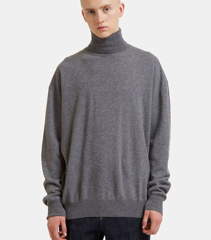 Oversized Contrast Roll Neck Sweater by Stella Mccartney