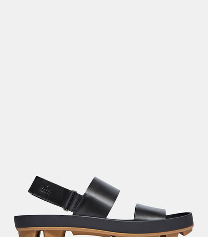 Leather Two Strap Sandals by Gucci