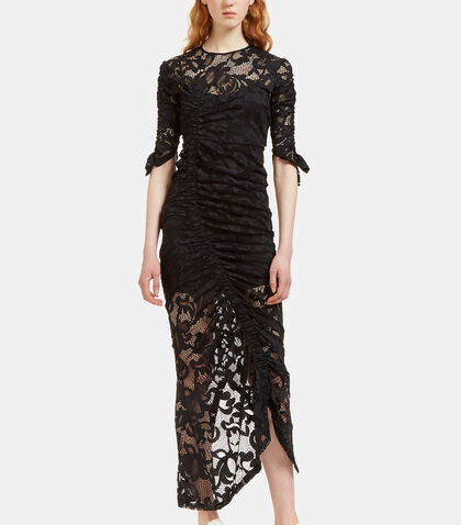 Georgia Ruched Lace Dress by Preen