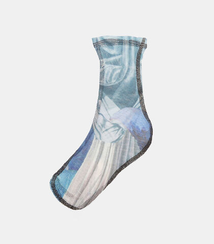 Printed Mesh Ankle Socks by Eckhaus Latta