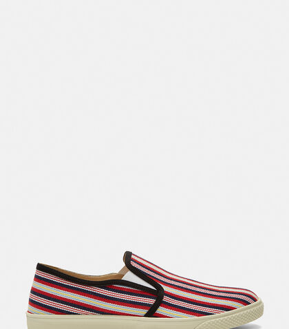 Woven Stripe Slip-On Sneakers by Stella McCartney