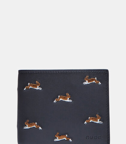 Hare Embroidered Basic Fold Wallet by Gucci