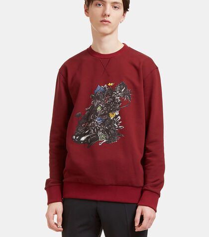 Printed Graphic Crew Neck Sweater by Lanvin