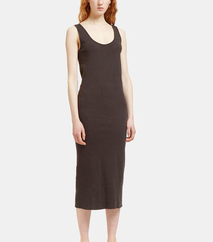Mid-Length Scoop Neck Dress by Lauren Manoogian