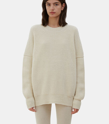Oversized Fisherman Knit Sweater by Lauren Manoogian