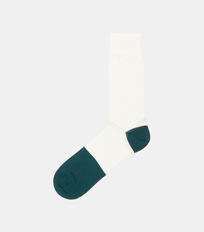 Bi-Colour Calf Length Socks by Marni