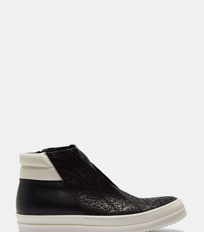 Island Dunk Combo Cracked High-Top Sneakers by Rick Owens