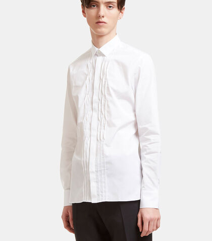 Plissé Placket Poplin Shirt by Lanvin