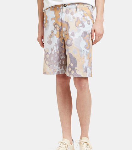 Allan Faded Print Shorts by Acne Studios
