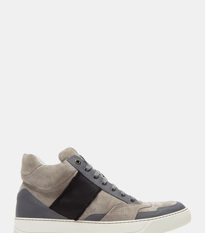 High-Top Suede Panelled Sneakers by Lanvin