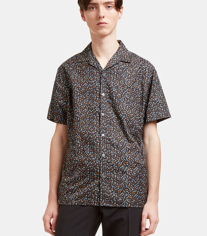 Printed Short Sleeved Bowling Shirt by Lanvin