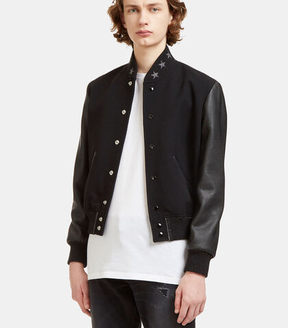Star Collared Teddy Bomber Jacket by Saint Laurent