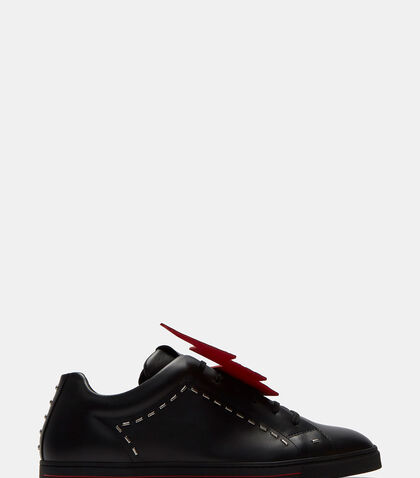 Lightning Bolt Stapled Sneakers by Fendi