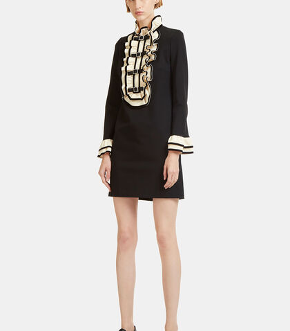 Crystal Buckled Ruffle Dress by Gucci