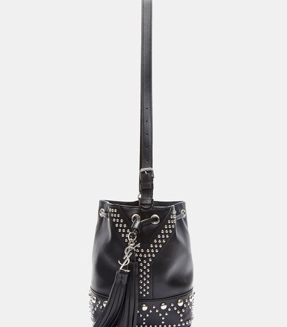 Studded Pearl Bucket Bag by Saint Laurent
