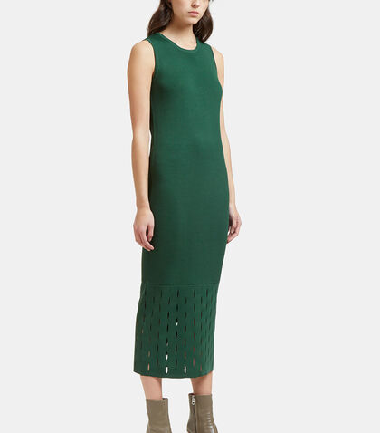 Ribbed Laser-Cut Tank Dress by Nomia