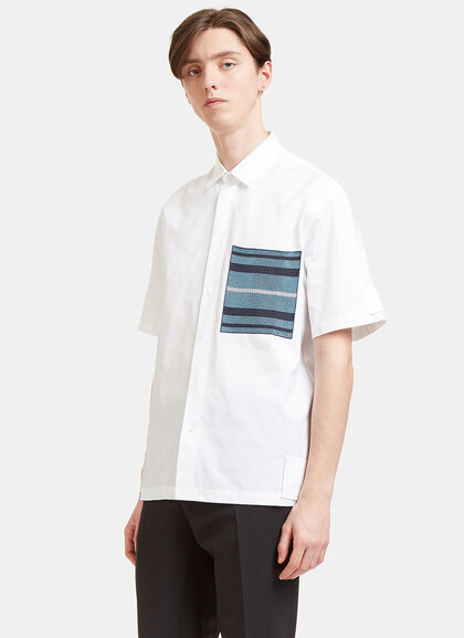Buy Woven Patch Pocket Short Sleeved Shirt by Oamc men clothes online