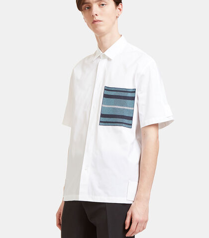 Woven Patch Pocket Short Sleeved Shirt by Oamc